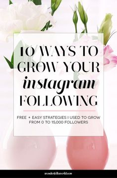 10 ways to grow your instagram following: these are the exact FREE and easy strategies I used to grow from 0 to 15,000+ followers this year! A must-read for small business owners who want to grow their Instagram following. // Wonderfelle