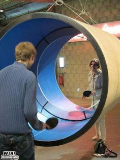 Tube Ping Pong! omg this looks like SO much fun!