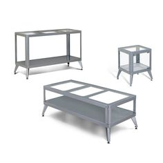 Furniture of America Herris Contemporary Metal 3 Piece Coffee Table Set - IDF-4273