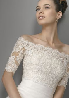 Half-Sleeve Lace Wrap for Wedding Party/ Evening