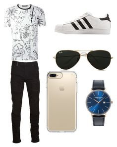 """Sport Outfit"" by justadancelover12 on Polyvore featuring Dolce&Gabbana, Marcelo Burlon, adidas, Topman, Speck, Kenneth Cole, men's fashion and menswear"