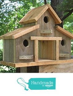 Birdhouse,Rustic Barn Barn Birdhouse from Tallahatchie Designs Reclaimed Barn Wood, Old Wood, Rustic Barn, Homemade Bird Houses, Bird Houses Diy, Bird House Feeder, Bird Feeders, Bird House Plans, Backyard Birds