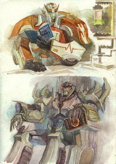 TF: reading Cybertron by Unita-N.deviantart.com on @deviantART