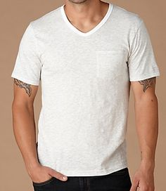 Bing Tee in White Heather from Original Penguin. $39.50