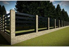 Constructie gard din piatra GA16 Fence Gate Design, Fencing, Garden Bridge, Deck, Outdoor Structures, Outdoor Decor, Home Decor, Gardens, Houses