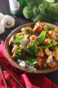 Chicken and Broccoli in Garlic Sauce. Make your favorite takeout recipe at home for a healthier, easy, and tasty weeknight dinner! | hostthetoast.com