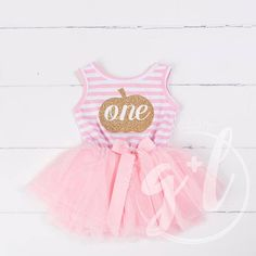 Halloween 1st Birthday First birthday outfit Pink and Gold