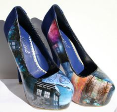 Doctor Who Heels Doctor Who Shoes Tardis Heels by LeadFootLucy, $115.00
