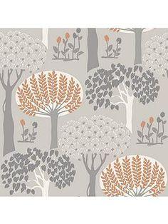 Arthouse Bernwood Orange And Grey Wallpaper