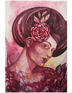 "akwarela ""Vampire"" szufladadany.blogspot.com Art Pictures, Original Art, Watercolor, Painting, Illustration, Art Images, Pen And Wash, Watercolor Painting, Watercolour"