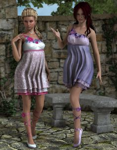 The flowers on the ground and the sky above were the inspiration for this texture set. It adds a wide range of options to your Song of Spring clothing set.  Mix-and-match dress and skirt styles, add the flower textures of your choice and create your own unique look!  All material presets have been carefully customized to render optimal results in both DAZ Studio and Poser. http://3dmodelartzone.blogspot.ro/2013/06/art-zone-spring-tune.html