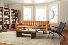 Loved this leather sofa at Room&Board.  The color really pops in person. $3,499.00
