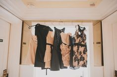a glamorous line-up of Bridesmaid Dresses  Photography by http://jackiewonders.com