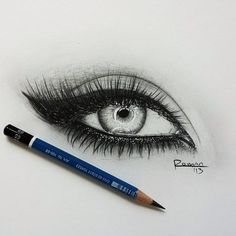 Drawing Eyes Incredibly realistic eye drawing with pencil - Eye Pencil Drawing, Realistic Eye Drawing, Drawing Eyes, Pencil Art, Pencil Drawings, Makeup Drawing, Drawing Of An Eye, Drawing Stuff, Amazing Drawings