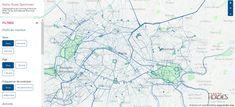Running map of Paris