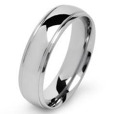 Stainless Steel Men's High Polish Wedding Band | Overstock.com Shopping