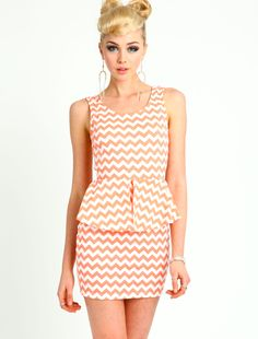 Fabulous! ZIG ZAG PEPLUM DRESS  $24.90  LoveCulture.com