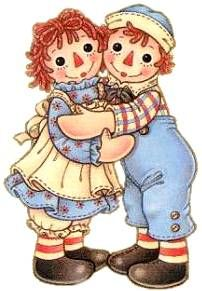 Raggedy Ann & Andy....BIG fan....since I was just a little girl. It all started w/ a book my mom bought me at the Hallmark Store. I still treasure it.