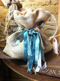 What great bags, burlap and rayon seam binding