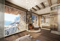 It's the skiing season! Would you rather be chilling in your #chalet with breathtaking views right now?