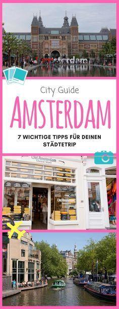 Amsterdam ist einfach toll! Hier habe ich dir einige Tipps zusammengestellt, die vielleicht hilfreich für dich bei einem Städtetrip sein können! #Amsterdam #Kurztrip #Städtetrip #Reisetipps