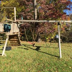 Rainbow swing set - needs to be stained , needs new swings due to sun damage but will be good as new with a little TLC, this was $6000 new