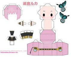 Papercraft Megurine Luki by ~Furikisundama on deviantART