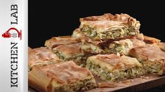 Leek pie by Greek chef Akis Petretzikis. A wonderfully tasty, aromatic pie made with caramelized leeks, onions, herbs and lemon zest in country phyllo dough! Vegetable Recipes, Vegetarian Recipes, Cypriot Food, Leek Pie, Middle East Food, Avocado Salad Recipes, Tomato Sauce Recipe, Cheese Pies, Tasty Videos