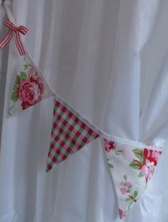 Pair-of-Curtain-Tie-Backs-Cath-Kidston-White-Ikea-Rosali-Gingham-Check-Bunting tie backs i've bought :)