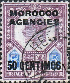 Morocco Agencies Spanish Currency 1907 SG 119 King Edward VII Fine Mint Scott 41 Other Morocco Agency Stamps HERE