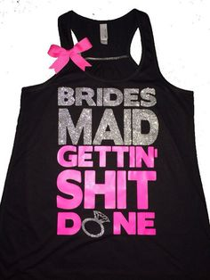 Bridesmaid Tank - Ruffles with Love - Sweating for the Wedding - Weddi   Ruffles with Love