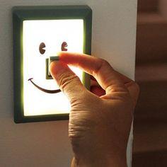 Interruptor de luz super criativo.