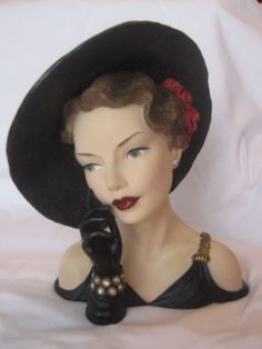 Cameo Girls Lady Head Vase Blythe 1930s Black Magic Original Box Booklet | eBay