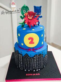 tarta cumpleaños pijamas tarta fondant PJMASKS Pj Masks Birthday Cake, 7th Birthday, Torta Pj Mask, Cupcakes, Character Cakes, Fondant Tutorial, Mask Party, First Birthdays, Party Themes