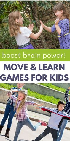 Kids learn better when they are moving their bodies. Help kids learn skills and concepts with these super fun move and learn games that they will love! Motor Skills Activities, Toddler Learning Activities, Learning Games, Preschool Activities, Kids Learning, Fun Moves, Kids Moves, Outdoor Activities For Kids, Games For Kids