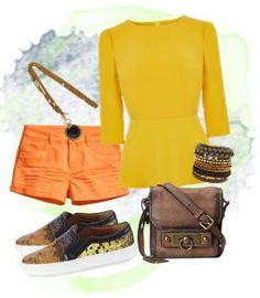 gelb-orange-braun