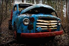 Old abandoned Volvo Truck