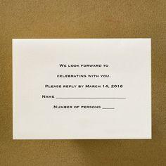 Ecru Plain - Respond Card and Envelope weddingneeds.carlsoncraft.com