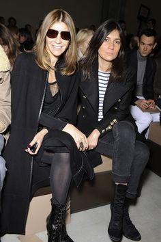 Carine Roitfeld and Emmanuelle Alt