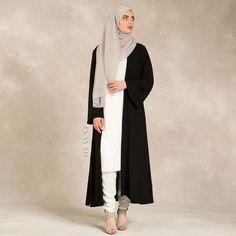 INAYAH | Black Georgette #Kimono