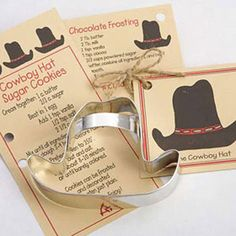 Cowgirl cowboy hat cookie cutter