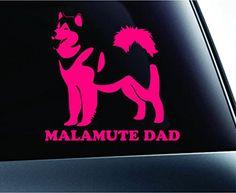 Alaskan Malamute Dad Dog Symbol Decal Funny Car Truck Sticker Window (Pink) ExpressDecor http://www.amazon.com/dp/B00S1RAHRK/ref=cm_sw_r_pi_dp_83fSub1EEBM7X