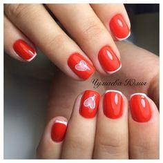 #Маникюр #Ногти #яркий_френч #день_всех_влюбленных #14th #nail #Красный