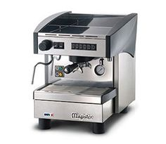 Stilo ES60 1 Group  The Magister Stilo ES60 is a slick and compact machine, finished in stainless steel and designed for quick and efficient usage