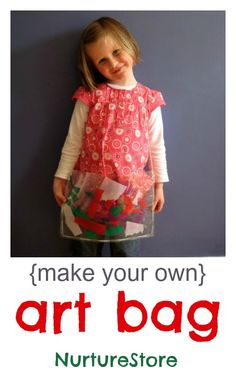 A super cute {and easy to make} art bag. Great kids craft!
