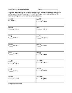 Precalculus circuit training 1 algebra 2 review answers