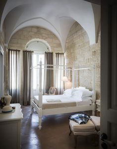 The enchanting hotel Italy's Puglia region has just six rooms and pairs laid-back luxury with classic decadence. We take a look at Don Totu Dimora Storica. Best Hotel Deals, Best Hotels, New York Architecture, Interior Decorating, Interior Design, Exposed Brick, Common Area, B & B, Decoration