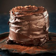 Taste Mag | Moist chocolate cake with coconut ganache and white chocolate cream-cheese filling @ https://taste.co.za/recipes/moist-chocolate-cake-with-coconut-ganache-and-white-chocolate-cream-cheese-filling/