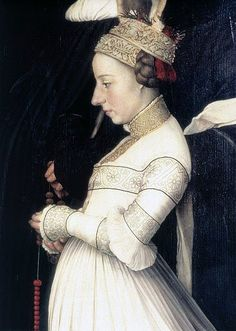 1526 Hans Holbein the Younger (1498-1543) Anna Meyer Detail of the Darmstadt Madonna