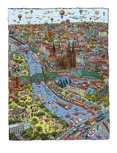 Natascha Schwartz - Map of Cologne/ Koln